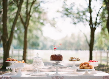 (Top Photo) Southern Wedding Dessert Table: Justin Demutiis Photography