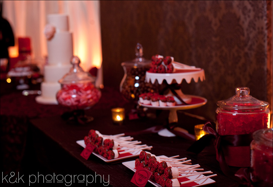 Chocolate Brown And Red Dessert Table By K Amp K Photography